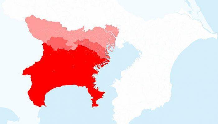 配布エリア地図